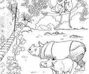 Free coloring and drawings zoo fence Coloring page