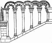 Coloring pages Ancient architecture to be colored