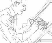 Coloring pages Architect and Plan