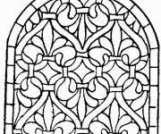 Free coloring and drawings Catholic Architecture Coloring page