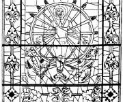 Free coloring and drawings Christian Architecture Coloring page