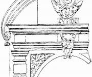 Free coloring and drawings French Architecture Coloring page