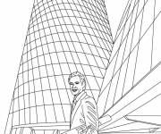 Free coloring and drawings Revolutionary architecture Coloring page