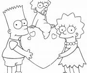 Coloring pages Bart in Family