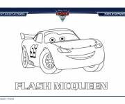 Free coloring and drawings Cars Flash Mcqueen Online Coloring page