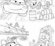 Free coloring and drawings Cars Martin et Flash Mcqueen Coloring page