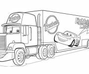 Free coloring and drawings Mcqueen Flash Truck Coloring page
