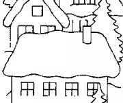 Coloring pages A maternal wooden chalet