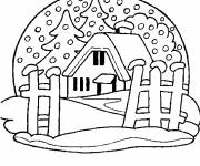 Coloring pages Chalet and Snow