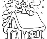 Coloring pages Chalet in the forest