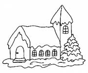Coloring pages Chalet simple