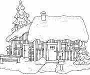 Coloring pages Christmas chalet