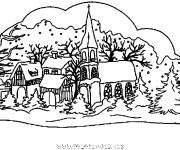 Coloring pages Colored chalet