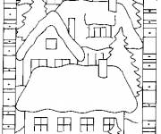 Coloring pages Easy chalet