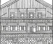 Coloring pages Magnificent chalet