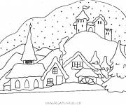 Coloring pages Mountain Chalet