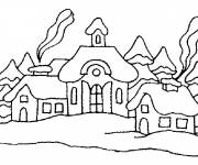 Coloring pages Mountain Chalets