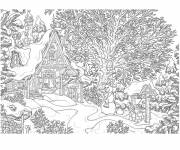 Coloring pages Realistic chalet