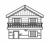 Coloring pages Wooden chalet