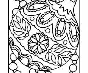 Coloring pages Artistic Christmas ball