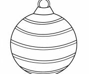 Coloring pages Christmas ball aligned