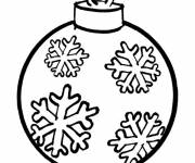 Coloring pages Christmas ball in color