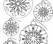Coloring pages Christmas ball to color