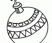 Coloring pages Christmas ball to decorate