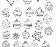 Coloring pages Christmas balls to download