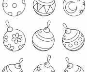 Coloring pages Colored Christmas balls