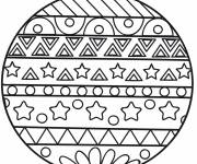 Coloring pages Original Christmas ball