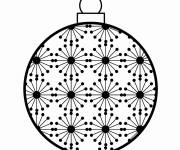 Coloring pages Stylized Christmas ball