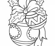 Coloring pages Well decorated Christmas ball