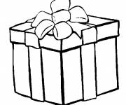 Coloring pages Christmas gift deposited
