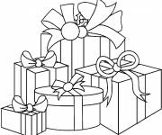 Coloring pages Christmas gifts to cut out