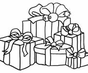 Coloring pages Colored Christmas gifts