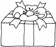 Coloring pages Covered Christmas gift