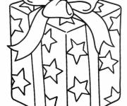 Coloring pages Gift in color