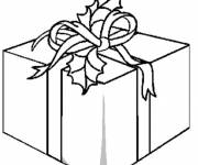 Coloring pages Gift package