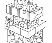 Coloring pages Mouse sleeps on Christmas Gifts