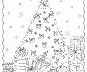Coloring pages Stylized Christmas gifts