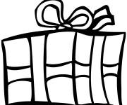 Coloring pages Vector Christmas gift