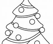 Coloring pages Christmas tree for family