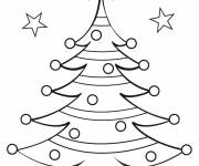 Coloring pages Christmas tree template