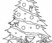 Coloring pages Christmas tree to cut