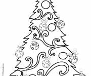 Coloring pages Decorated christmas tree