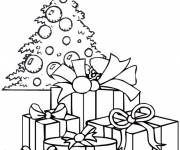 Coloring pages Many Gifts under the Christmas tree