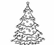 Coloring pages Maternal christmas tree