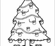 Coloring pages Vector christmas tree
