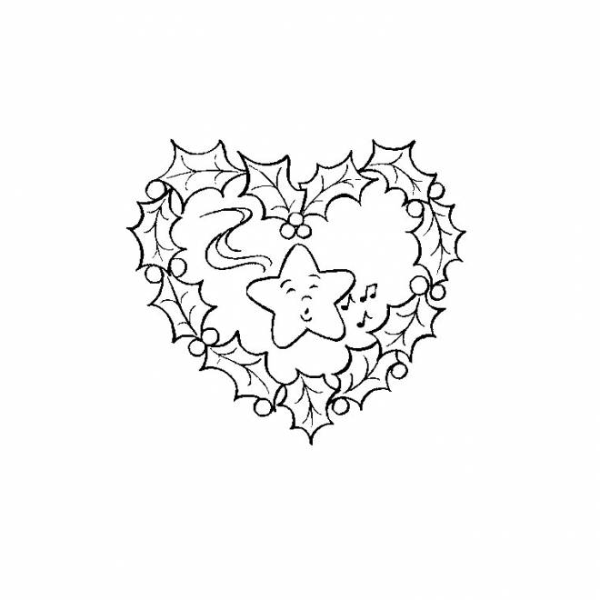 Free printable Christmas wreath coloring pages